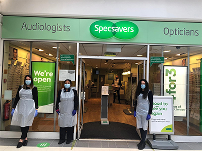 Specsavers in Dalston Cross open with safety in sight