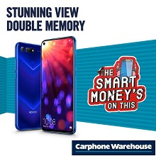 Get the new HONOR View 20 at Carphone Warehouse